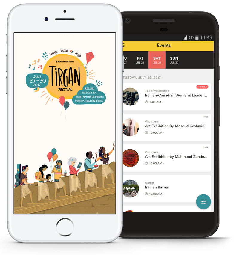 Tirgan App - Developed by Hexpace